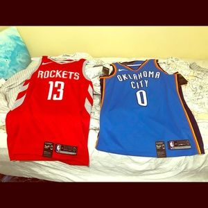 James harden and Russell Westbrook Jersey